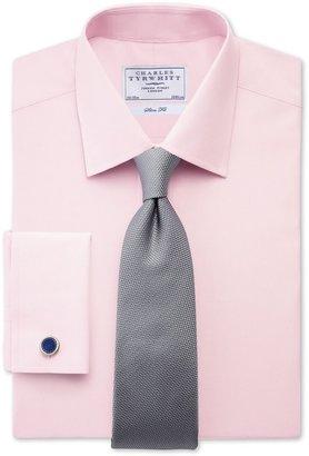 Charles Tyrwhitt Easy-to-iron pink poplin slim fit shirt