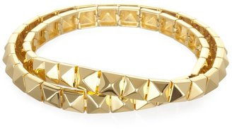 Noir Wrap Around Smooth Bracelet, Gold