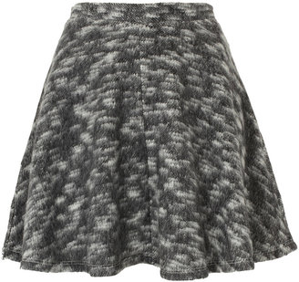 Topshop Grey Blanket Skater Skirt