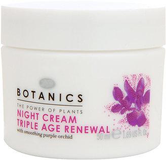 Botanics Triple Age Renewal Night Cream