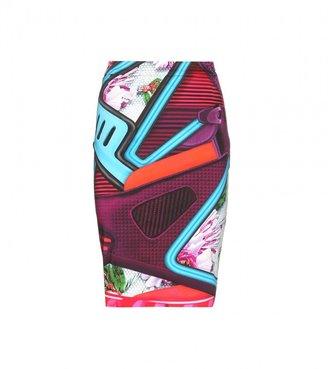 Mary Katrantzou Diamond printed stretch-cotton skirt