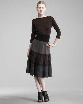 Jean Paul Gaultier Tiered Patchwork Skirt