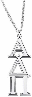 FINE JEWELRY Personalized Sterling Silver Greek Symbols Pendant Necklace