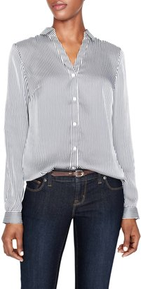 The Limited Striped Georgette Cutaway Blouse