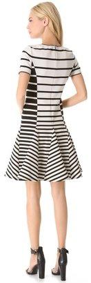 Halston Stripe Flare Dress