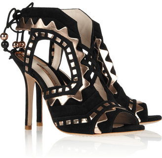 Webster Sophia Riko cutout suede and leather sandals