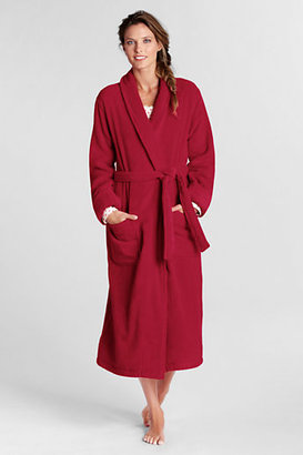 Lands' End Women's Regular Cotton Terry Midcalf Robe