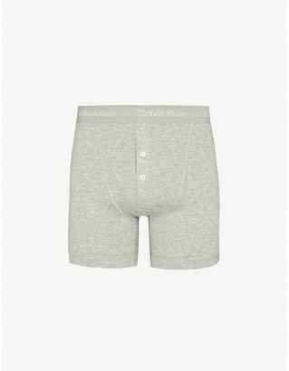 Calvin Klein Button-fly boxer briefs