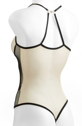 Only Hearts 'Whisper' Convertible Colorblock Mesh Thong Bodysuit