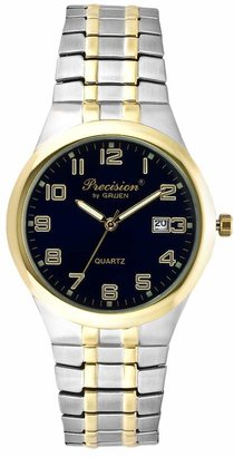 Gruen Precision By Precision by Men's Two Tone Expansion Watch