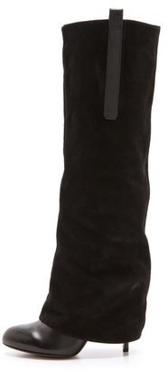 Vera Wang Shai Suede Knee High Boots