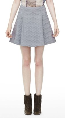 Theyskens' Theory Swick Q Skirt in Fazzuro Cotton Silk Blend