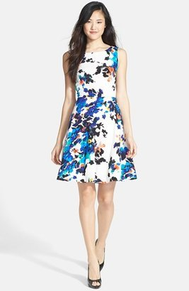 Betsey Johnson Floral Print Fit & Flare Dress