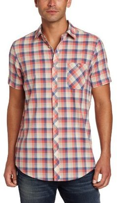 Ben Sherman Men's Plectrum Short Sleeve Small Scale Gingham Shirt