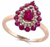 Effy Ruby, 14K Rose Gold and 0.07 TCW Diamond Ring