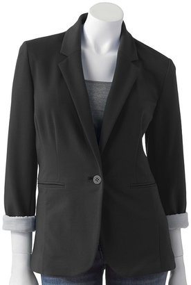 Apt. 9 solid roll-sleeve blazer