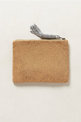 Anthropologie Blueprint Beaded Pouch