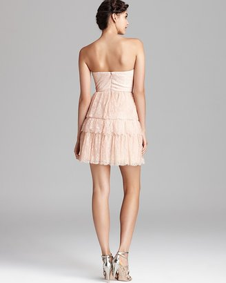 BCBGMAXAZRIA Strapless Tiered Lace Dress - Lilah