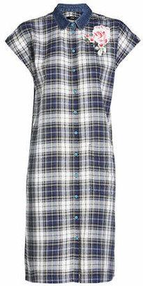 Diesel Lexine Plaid Shirt Dress