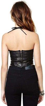 Nasty Gal Versace Erotica Leather Bustier