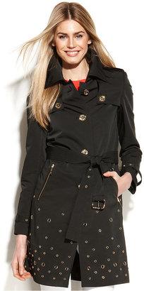 MICHAEL Michael Kors Belted Grommet Trench Coat