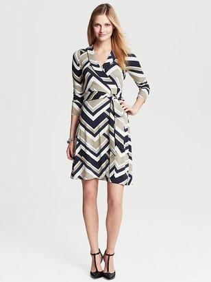 Banana Republic Gemma Chevron-Print Wrap Dress