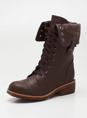 Wanted Recruit Combat Boot In Brown