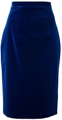 Christopher Kane velvet pencil skirt