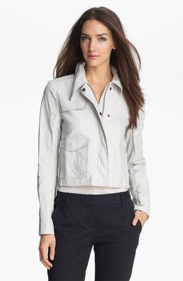 Theory 'Abyssinia' Linen Blend Moto Jacket