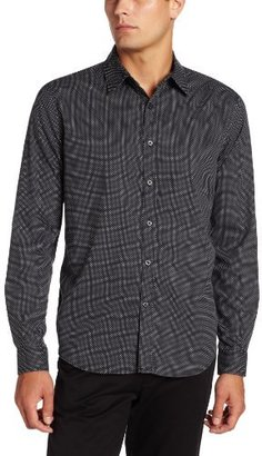 Geoffrey Beene Men's Micro Dot Print Slim Fit Long Sleeve Shirt