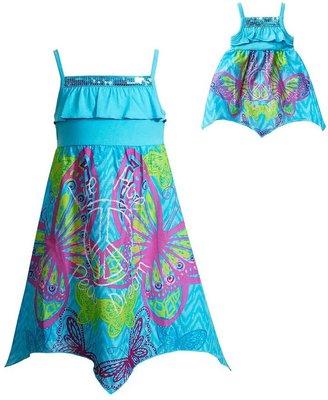 Dollie & Me butterfly handkerchief dress - girls 7-16