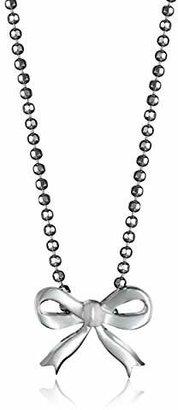 Alex Woo Little Princess Sterling Silver Bow Pendant Necklace