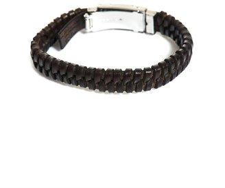 Dolce & Gabbana Woven leather logo cuff