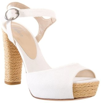 Castaner Fabric and straw sandal