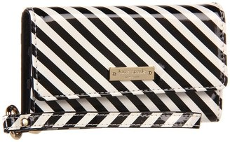 Kate Spade Spade Stripe Phone Wristlet for iPhone 5 (Black/White) - Bags and Luggage