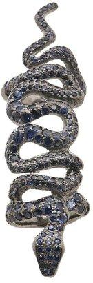 Loree Rodkin sapphires coiled snake bondage ring
