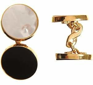 Barneys New York Men's Onyx & Mother-Of-Pearl Formal Set