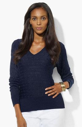 Lauren Ralph Lauren Dolman Sleeve V-Neck Sweater