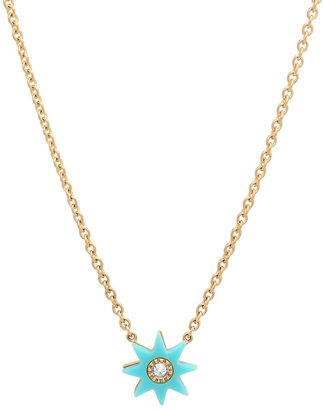 THE ALKEMISTRY Colette 18ct Yellow Gold Turquoise And Diamond Star Necklace