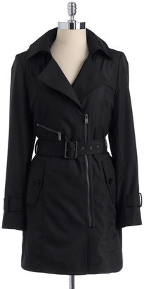 Marc New York Asymmetric Zipper Trench Coat