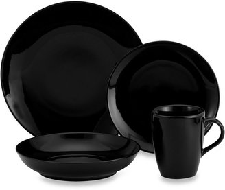 Ten Strawberry Street Black Coupe Dinnerware