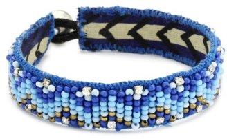 A.V. Max Blue Beaded Friendship Bracelet