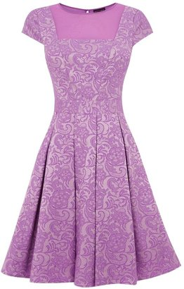 Warehouse Women's Jacquard lace full dress