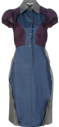 Carven colour block shirt dress