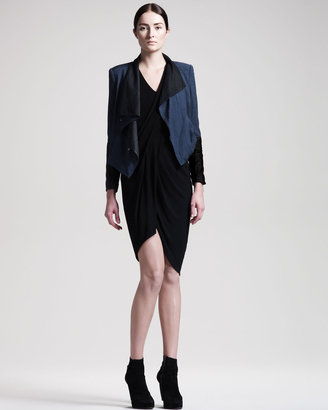 Helmut Lang Helix Jersey Dress