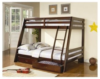 Wildon Home Mullin Twin Over Full Bunk Bed with Drawers