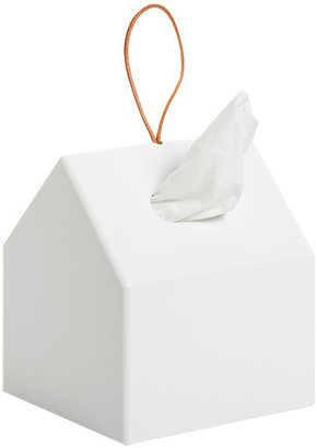 Container Store Bird House Bath Tissue Holder White