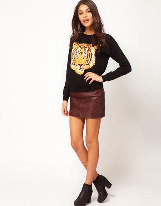 Asos Mini Skirt in Leather