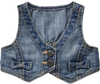 Old Navy Cropped Denim Vests for baby