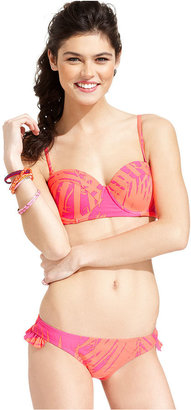 Roxy Swimsuit, Printed Ruffled Hipster Brief Bottom